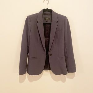 Single-button jacket in bonded crepe - Size 4